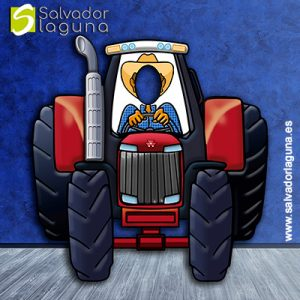 Photocall Infantil Tractor Rojo